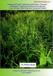 Book Cover: Commercial Ginger Cultivation and its Socio-Economic Contribution - Empirical Evidences from Lohit and Lower Dibang Valley Districts of Arunachal Pradesh