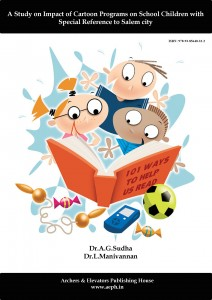 Book Cover: A Study on Impact of Cartoon Programs on School Children with Special Reference to Salem City