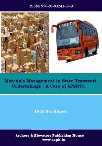 Book Cover: Materials Management in State Transport Undertakings: A case of APSRTC