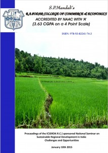 Book Cover: Sustainable Regional Development in India – Challenges and Opportunities