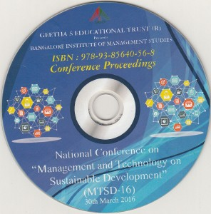 Book Cover: National Conference on Management & Technology for Sustainable Development