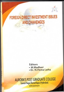 Book Cover: Foreign Direct Investment : Issues and Challenges