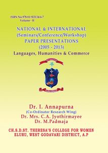 Book Cover: National & International (Seminars/Conference/Workshop) Paper Presentations (2005 - 2013) Languages, Humanities & Commerce