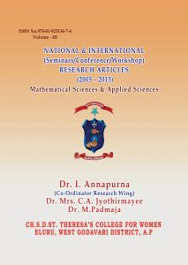 Book Cover: National & International (Seminars/Conference/Workshop) Research Articles (2005-2013) Mathematical Sciences & Applied Sciences